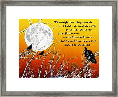 Autumn Moon Framed Print by Methune Hively