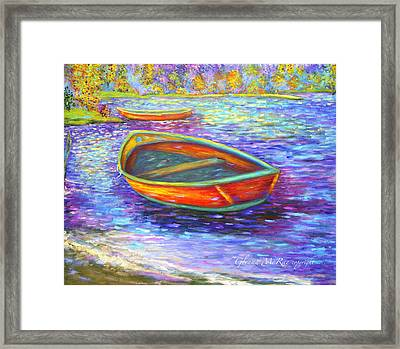 Autumn Morn On Mossy Lake Framed Print by Glenna McRae