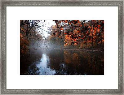 Autumn Morning By Wissahickon Creek Framed Print by Bill Cannon