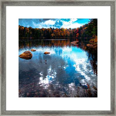 Autumn On Cary Lake Framed Print by David Patterson
