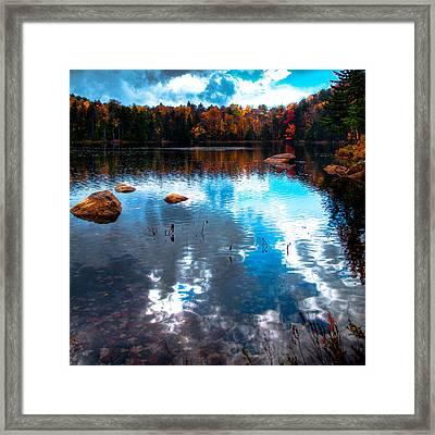 Autumn On Cary Lake Framed Print