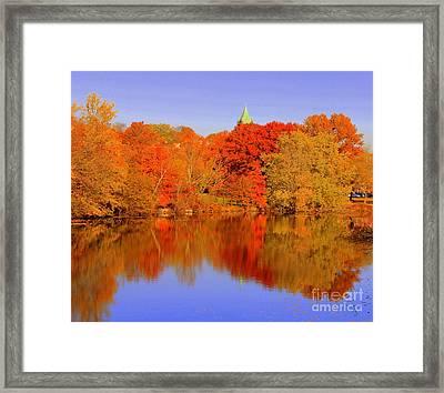 Autumn  On Mystic Lake Framed Print
