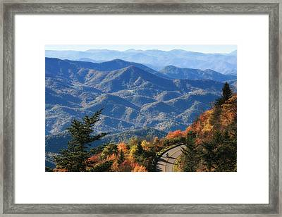 Framed Print featuring the photograph Autumn On The Blue Ridge Parkway by Lynne Jenkins