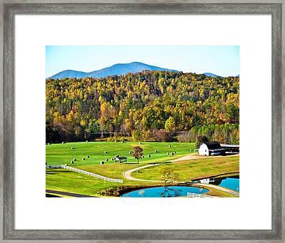 Framed Print featuring the photograph Autumn On The Farn by Susan Leggett