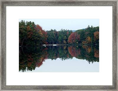 Autumn On The Lake Framed Print by Lois Lepisto