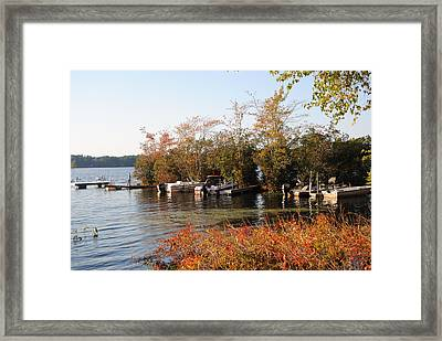 Autumn On The Pond Framed Print by Jennifer Powers