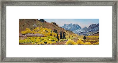 Autumn On The Road Less Traveled Framed Print