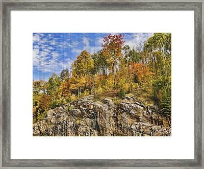 Autumn On The Rocks Framed Print by Jo-Anne Gazo-McKim