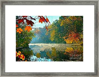 Autumn On The White River I Framed Print