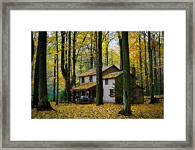 Autumn Peace Framed Print by Cheryl Perin