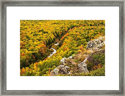 Autumn Precipice Framed Print