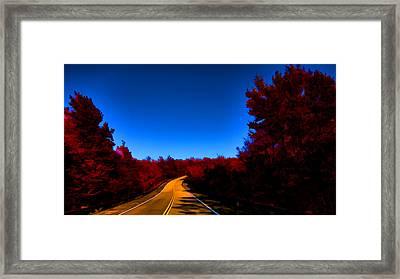 Autumn Red Framed Print