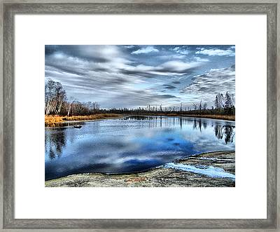 Framed Print featuring the photograph Autumn Reflection by Blair Wainman