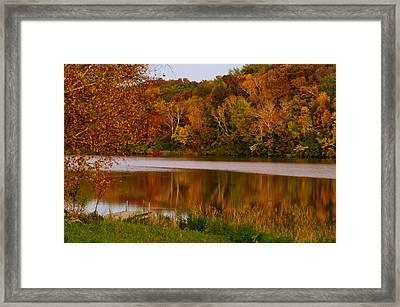 Autumn Reflection Framed Print by Susan Camden