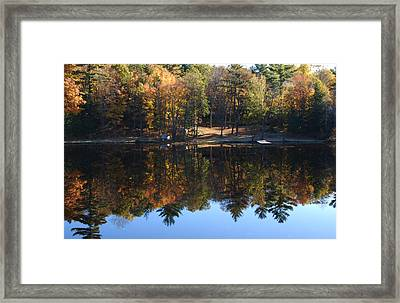 Autumn Reflections Framed Print by Kim French