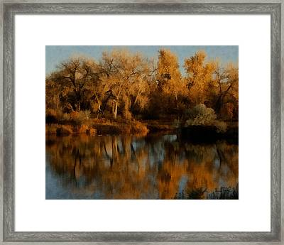 Autumn Reflections Painterly Framed Print by Ernie Echols