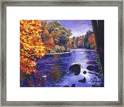 Autumn River Framed Print by David Lloyd Glover