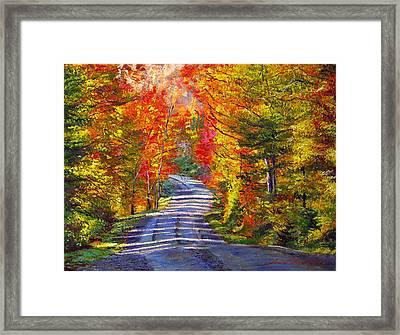 Autumn Roads Framed Print by David Lloyd Glover