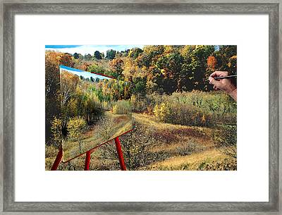 Autumn Roads Framed Print
