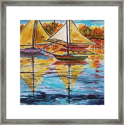 Autumn Sailboats Framed Print by John Williams
