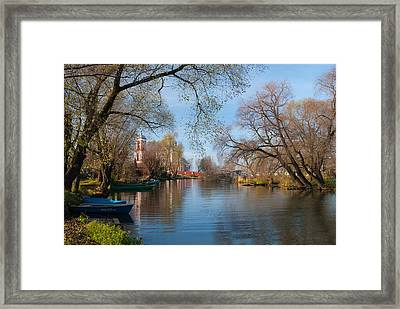 Autumn Scene On The River Framed Print by Konstantin Gushcha