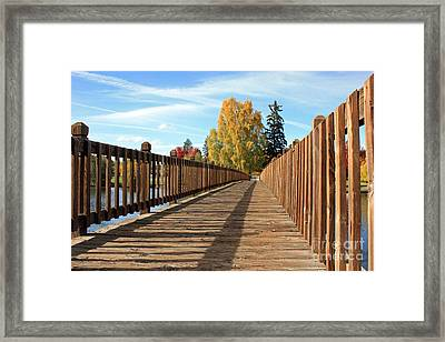 Autumn Shadows Framed Print by Kami McKeon