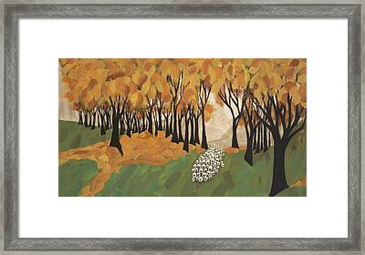 Autumn Sheep Framed Print