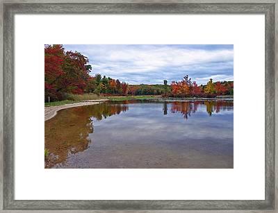 Autumn Shoreline Framed Print by David Rucker