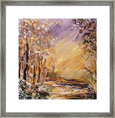 Autumn Snow Framed Print