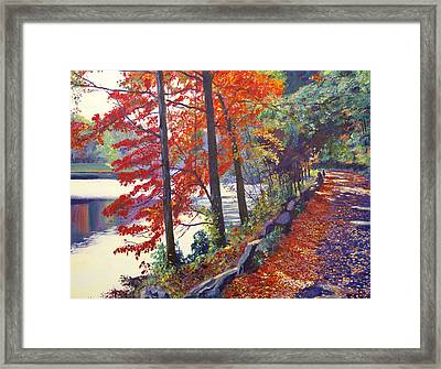 Autumn Sonata Framed Print by David Lloyd Glover