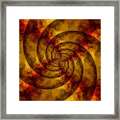 Autumn Spiral Framed Print by Bonnie Bruno