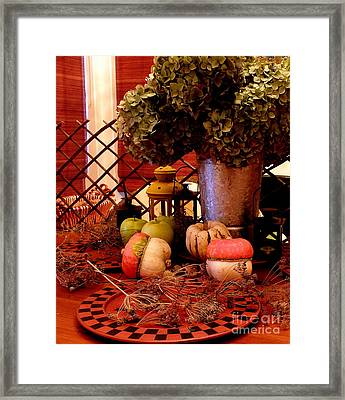 Autumn Still Life  2 Framed Print by Tanya  Searcy