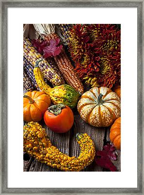 Autumn Still Life Colors Framed Print by Garry Gay