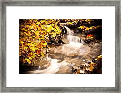 Autumn Stream No 1 Framed Print by Kamil Swiatek