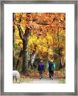 Autumn Stroll Framed Print by Susan Savad