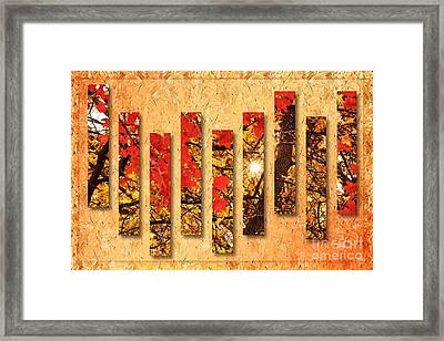 Autumn Sunrise Painterly Abstract Framed Print by Andee Design