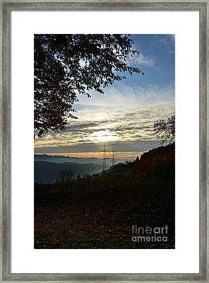 Autumn Sunset 3 Framed Print by Bruno Santoro