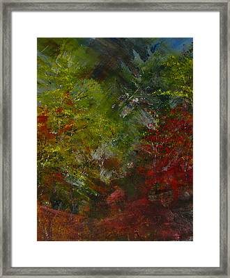 Autumn Sunshine Abstract Framed Print by Sherry Robinson
