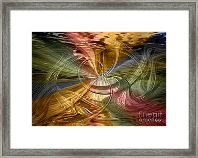 Framed Print featuring the digital art Autumn Symphony by Johnny Hildingsson