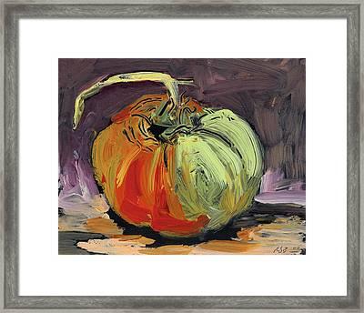 Autumn Tomato Framed Print by Scott Bennett