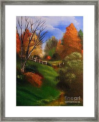 Autumn Trail  Framed Print by Crispin  Delgado
