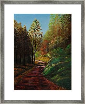 Autumn Trail Framed Print by Gene Gregory