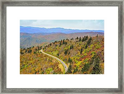 Autumn Travel Framed Print by Susan Leggett