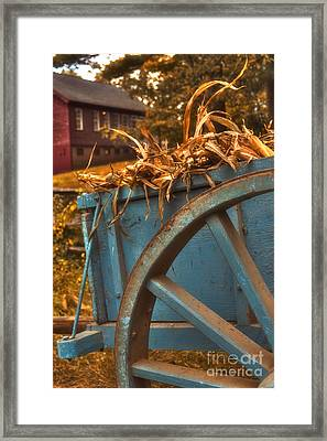 Autumn Wagon Framed Print