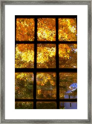 Autumn Window 2 Framed Print