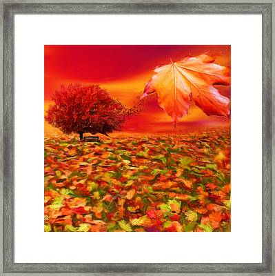 Autumnal Scene Framed Print by Lourry Legarde