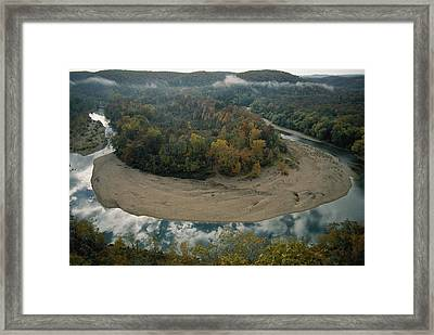 Autumnal View Of One Of The Loops Framed Print by Randy Olson