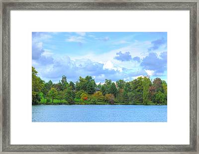 Framed Print featuring the photograph Autumn's Beauty At Hoyt Lake by Michael Frank Jr