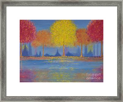 Autumn's Bliss Framed Print by Stacey Zimmerman
