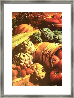 Framed Print featuring the photograph Autumn's Bounty by Sharon Duguay